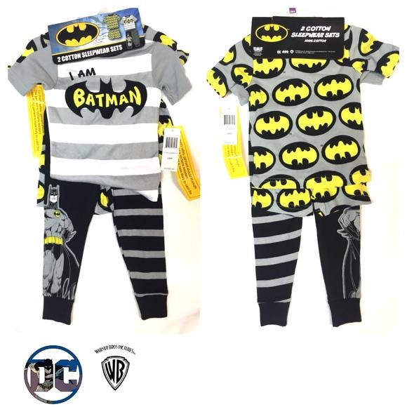 DC Comics Boys Batman 4-Piece Cotton Pajama Set